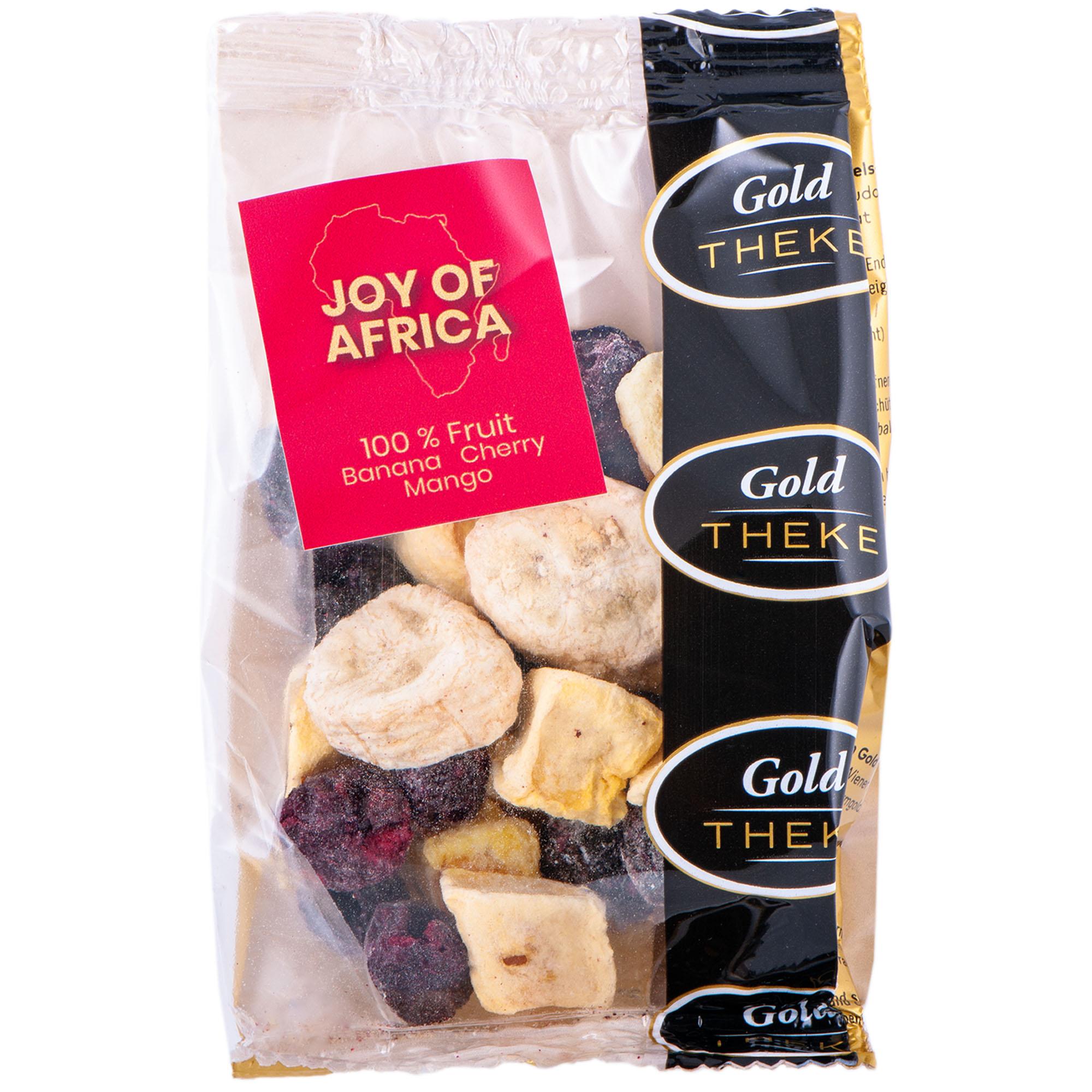 gefriergetrocknete Fruchtmisch Joy of Africa - Banane Kirsche Mango - GoldTHEKE