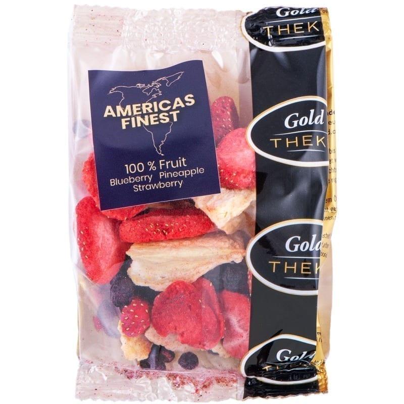 gefriergetrocknete Fruchtmischung Americas Finest GoldTHEKE - Blaubeeren, Erdbeeren, Ananas - gefriergetrocknet