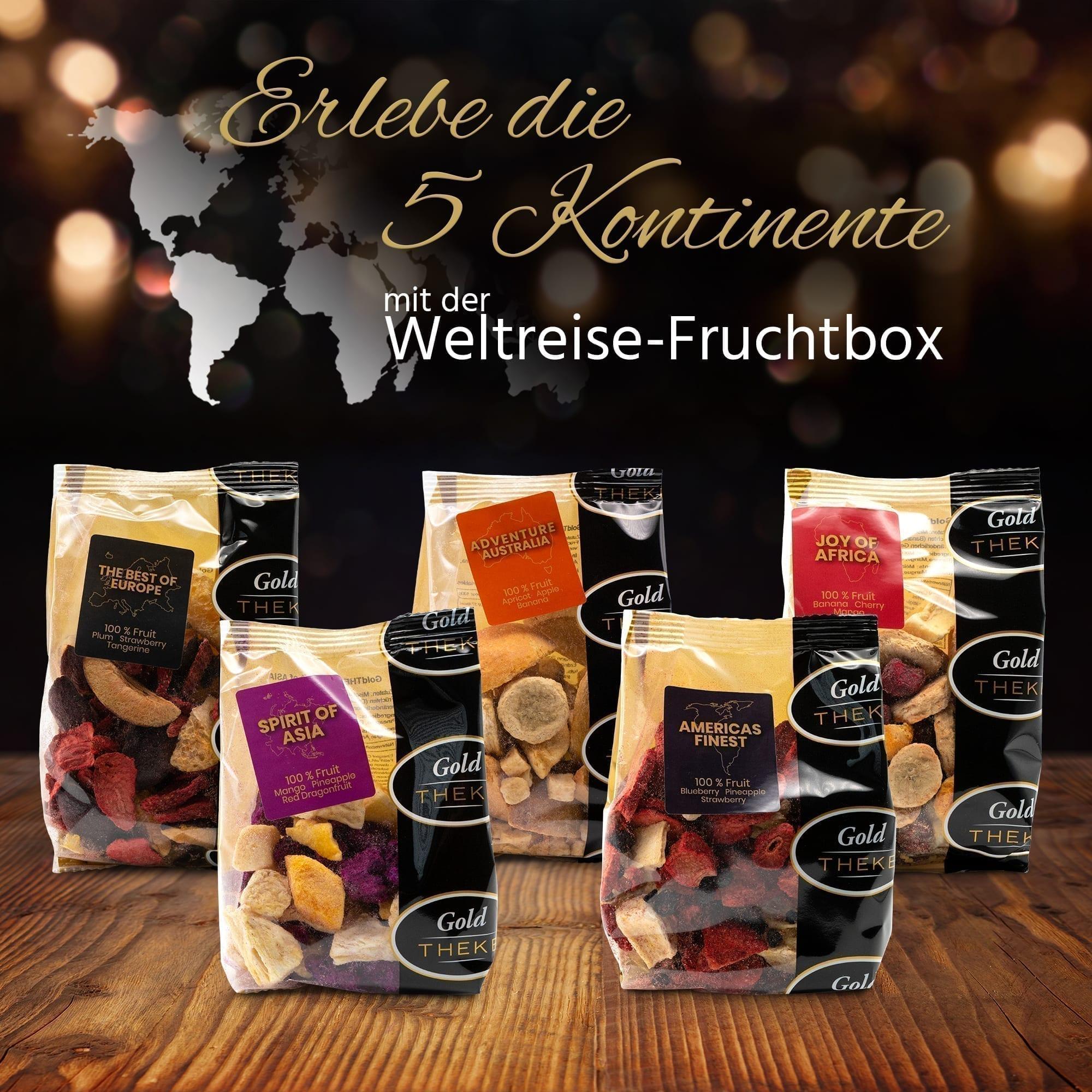 gefriergetrocknete Früchte - 5 Kontinente GoldTHEKE